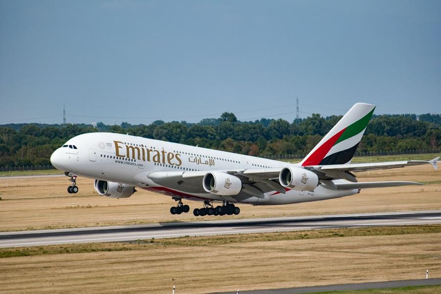 Airbus A380 de la flota de la aerolínea árabe Emirates