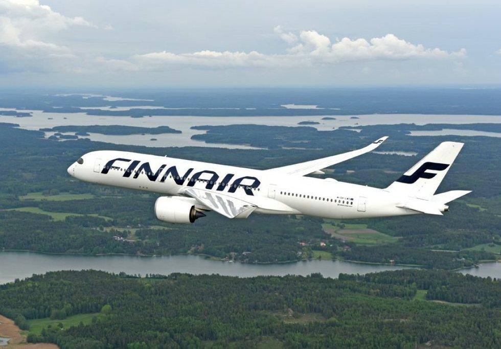 Avión perteneciente a la flota de la aerolínea Finnair