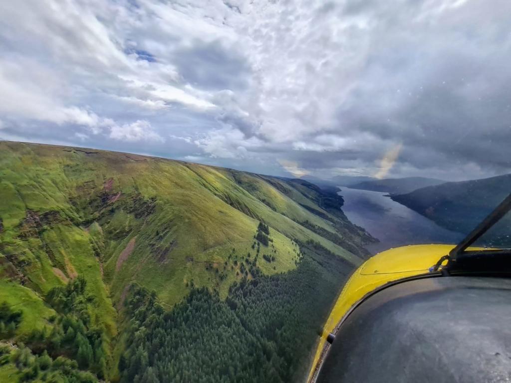 Vistas de un vuelo sobre las Islas Hébridas