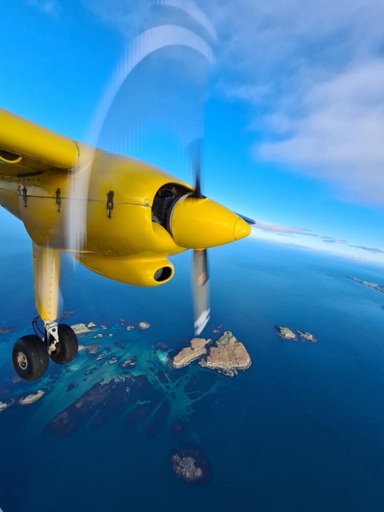 Hebridian Air sobre las Islas Hébridas