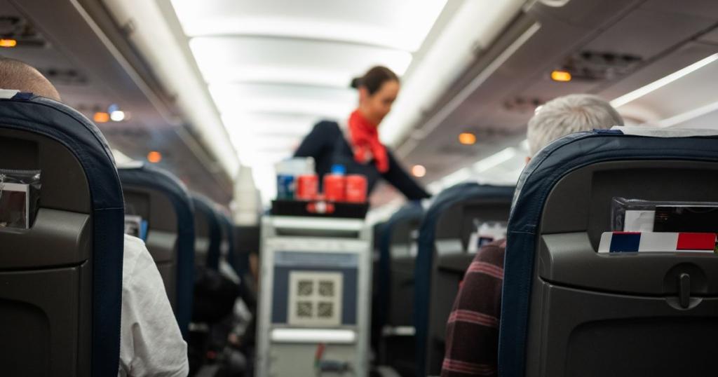 Interior de la cabina de un avión perteneciente a la flota de Delta Air Lines