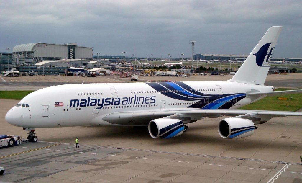 Airbus A380 perteneciente a la flota de Malaysia Airlines