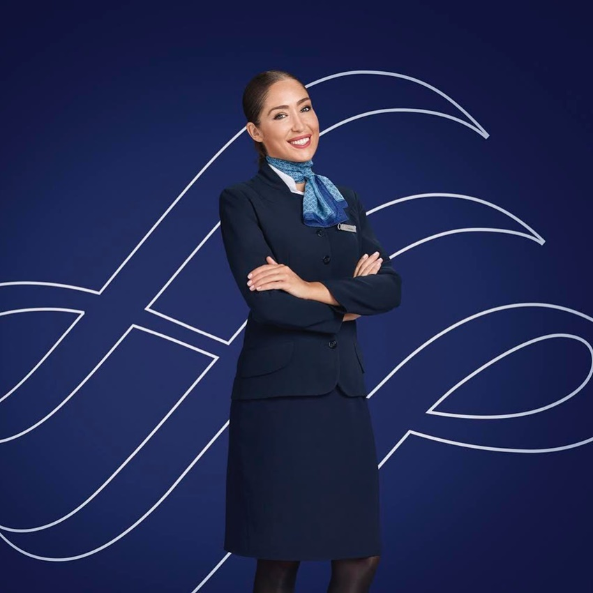 Uniformes de aerolíneas. Tripulantes de cabinas.