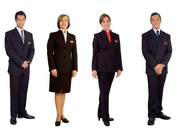 Uniformes de aerolíneas. Tripulantes de cabina
