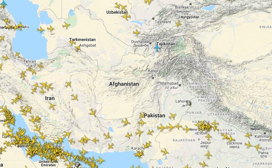 El espacio aéreo de Afganistán totalmente vacío desde la llegada de los talibanes