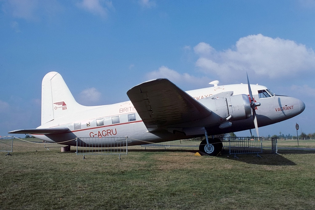 Vickers V-1 similar al accidentado en Heathrow el 31 de Octubre de 1950