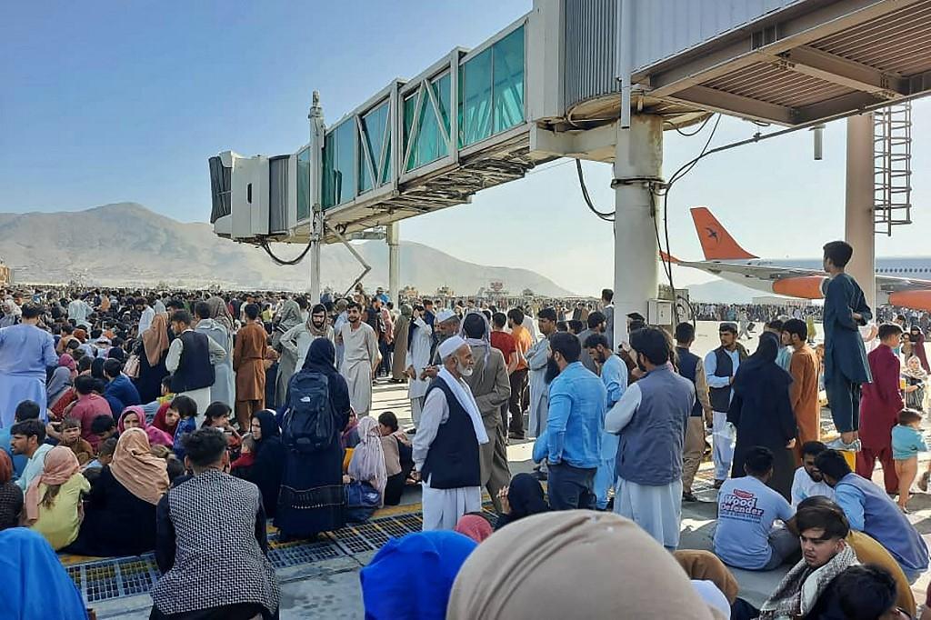 Situación en el aeropuerto de Kabul tras la llegada de los talibanes