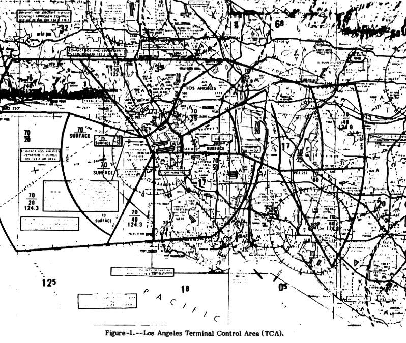 Espacio aéreo de Los Angeles en 1986