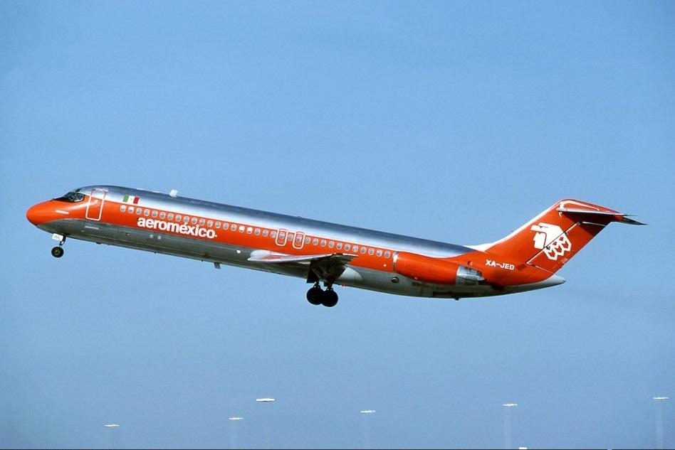 DC-9 de Aeroméxico accidentado el día 31 de Agosto de 1986