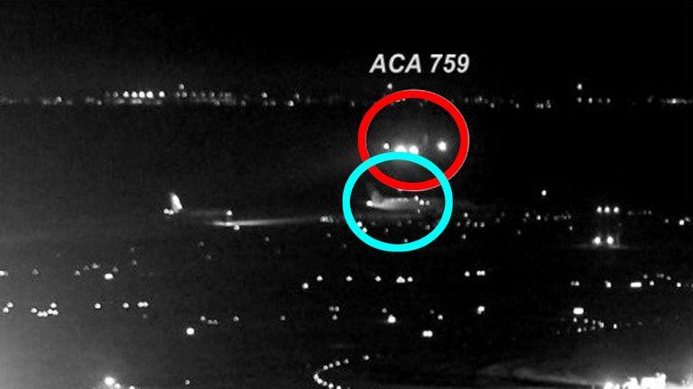 Incidente grave de un Airbus A320 de Air Canada en el aeropuerto de San Francisco en 2017