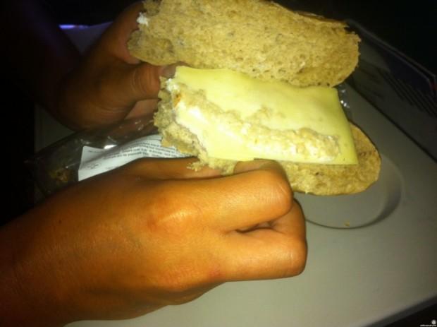 Bocadillo de queso Gouda de TUI Airways