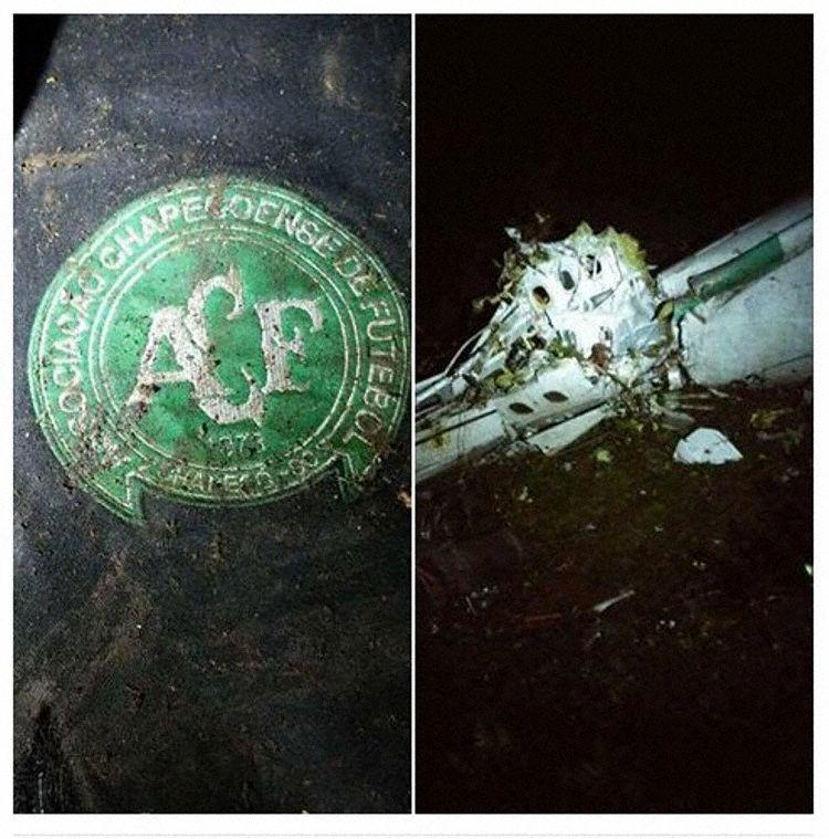 Restos del siniestro de LAMIA que provocó el fallecimiento de 19 jugadores del Chapecoense