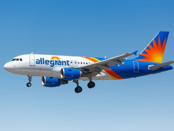 Avión perteneciente a la flota de la aerolínea Allegiant