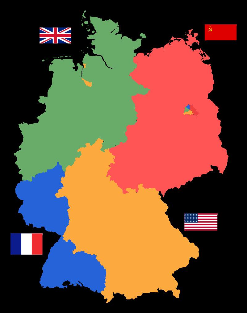 Mapa de Berlín tras la II Guerra Mundial