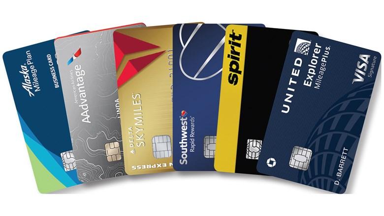 Tarjetas de crédito de diversas compañías aéreas