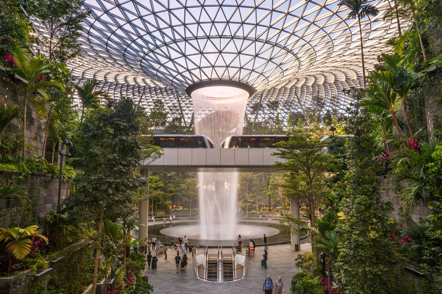 Aeropuerto de Changi, en Singapur