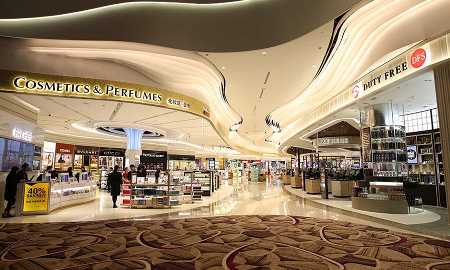 Tiendas en el aeropuerto de Changi, en Singapur