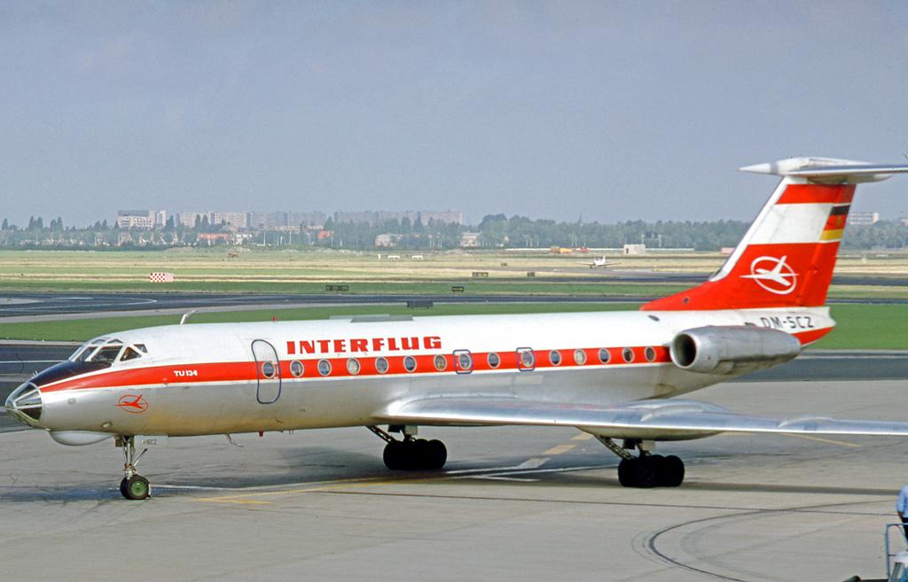 Avión de la RDA perteneciente a la flota de Interflug