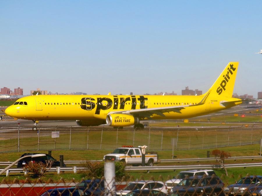 Avión perteneciente a la flota de la aerolínea estadounidense Spirit Airlines
