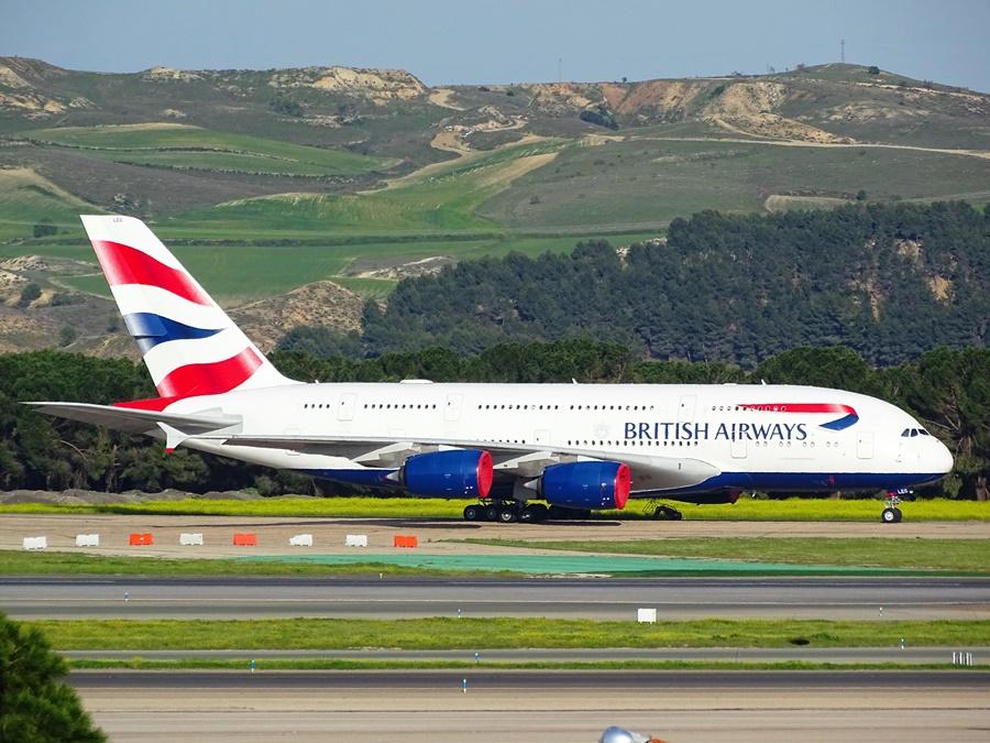 Airbus A380 de la compañía aérea British Airways