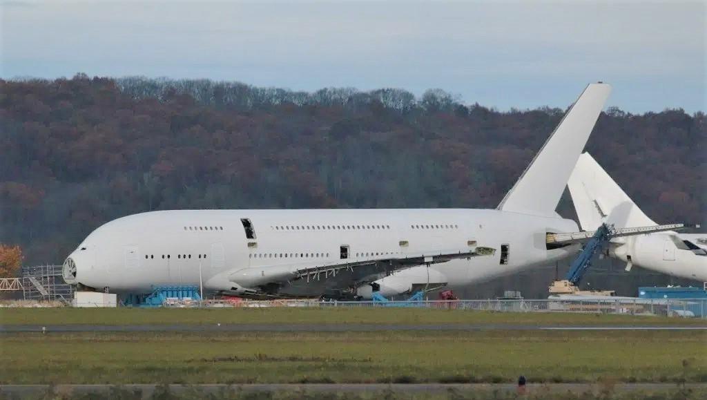 Airbus A380 de Singapore Airlines en desguace
