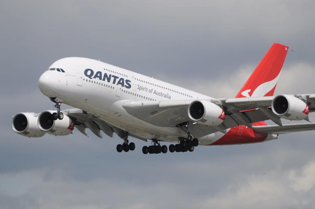 Airbus A380 de la compañía aérea australiana Qantas