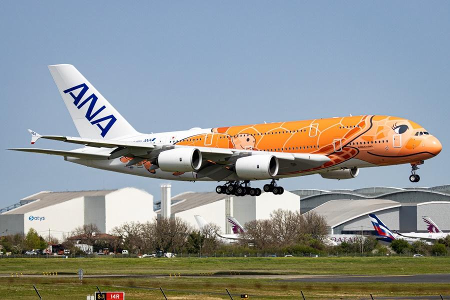 Airbus A380 de la aerolínea japonesa ANA
