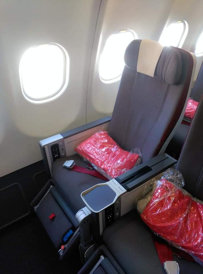 Asiento Premium Economy en un avión de la aerolínea Iberia